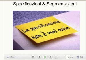 Specificazioni e segmentazioni