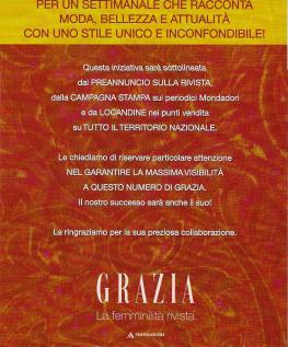 Grazia  - Comunicazione al Trade
