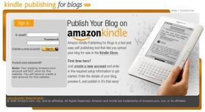 Kindle publishing for blogs