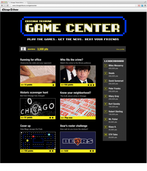 Gamification Game Center