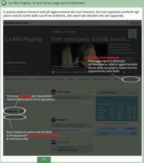 La mia pagina Corriere Passaparola