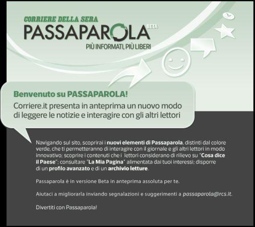 Passaparola Corriere