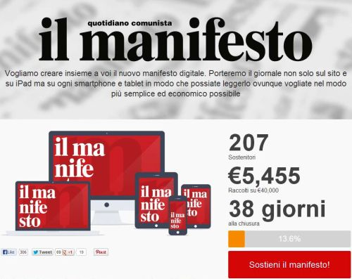 Il Manifesto Crowdfunding