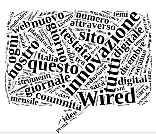 - word cloud lettera redazione Wired -